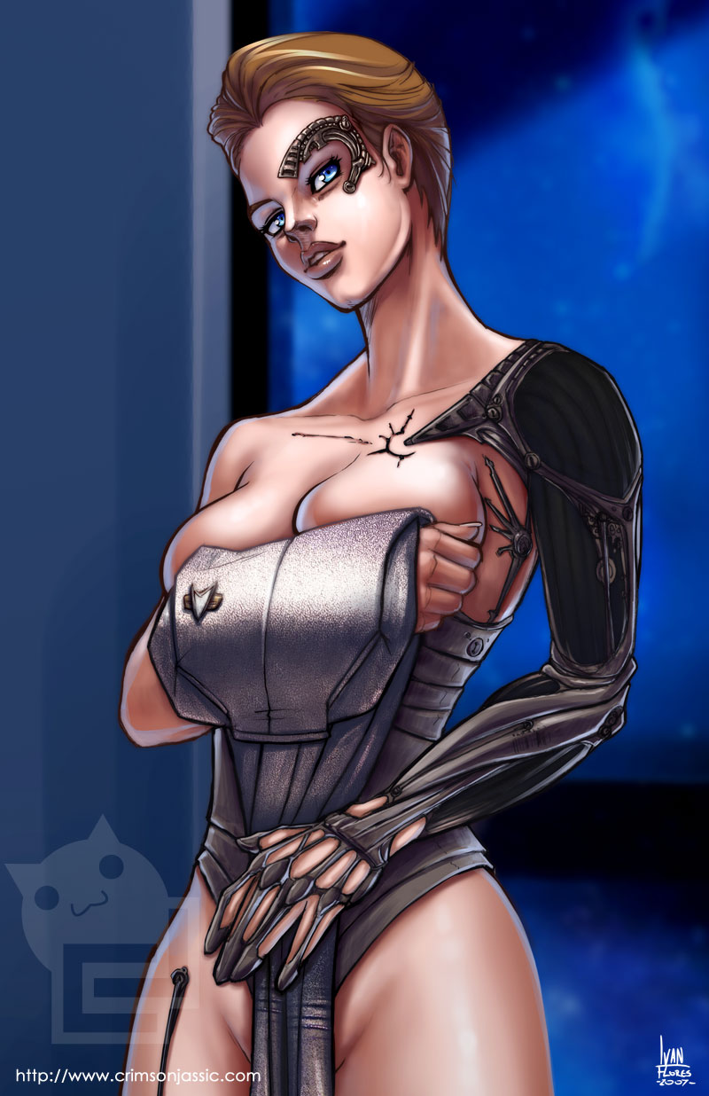 seven nine of Black widow from the avengers naked