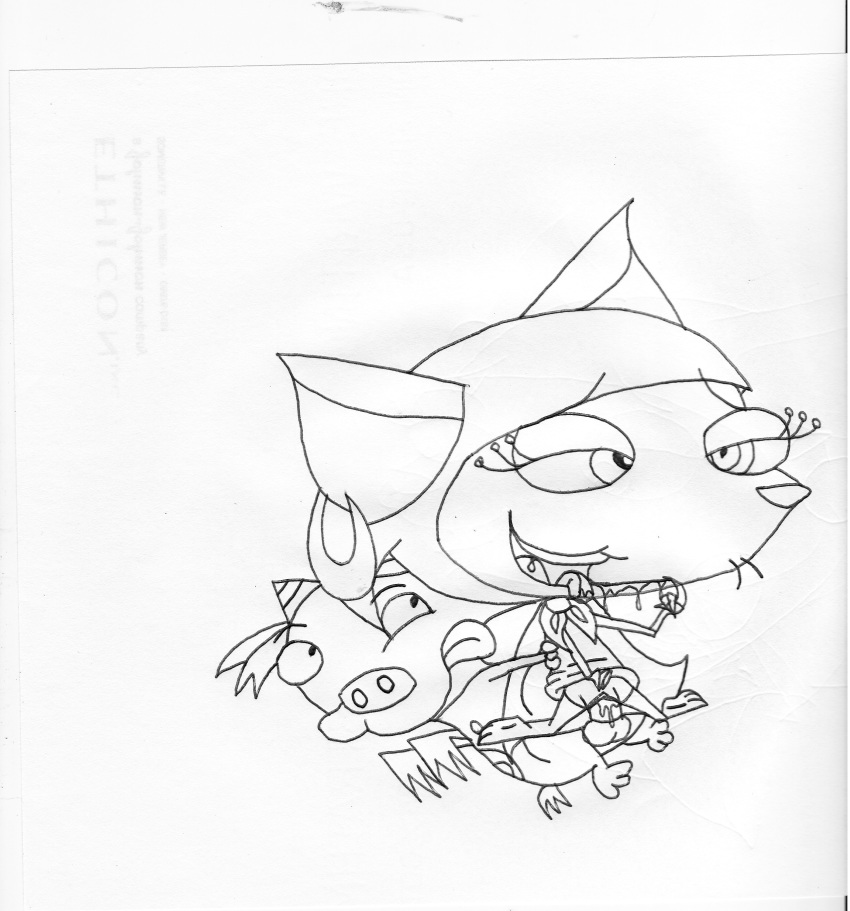 cowardly dog courage the rabbit Baby crash and baby coco